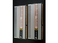Gaming Corsair xms3 4gb 2x2gb ddr3 ram very fast