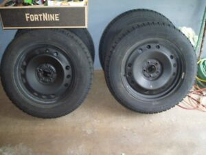 For Sale:  4  Winter tires and rims