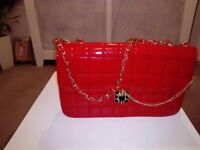Beautiful red shiny Shoulder handbag