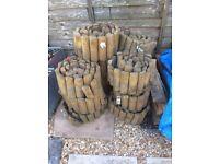 Grange Outdoor Wooden Log Edging Roll - Garden Landscaping Border - 1.8m x 15cm