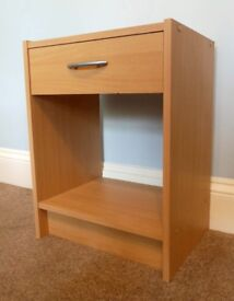 Bedside Cabinet/ Bedside Table with 1 Drawer & Metal Handle H21.5in/55.5cm W16.5in/42cm D19in/48cm