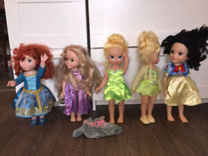 Disney Doll Lot Princess Fairy Tink Beauty Movie Store Girl Play