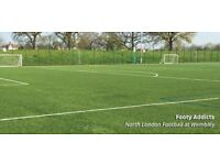Tuesday football in North Wembley, everyone welcome!