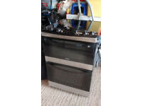 Zanussi double oven with induction hob.