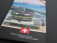 BRAND NEW Swiss Precision Book by Joachim Bung, Thorens TD124, TD-124, TD 124