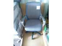 Mesh Backed Office Chair (Silver) - Brand New with labels