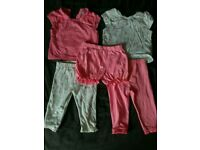 Pink & white flamingos mix & match girls 3-6 summer clothes set