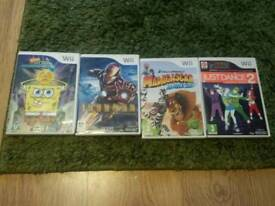 Collection of 4 Wii games/nintendo/computer games lot