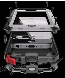 Iphone 5 6 7 Body armor tempered glass  shockproof phone case