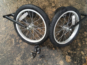 Stability wheels for adult size bike
