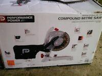 Performance power compound mitre saw