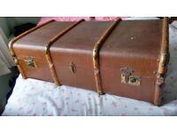 Antique travel trunk