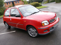 NISSAN MICRA 1.0 RED 3 DOOR SUNROOF LOW MILAGE LADY OWNER LONG MOT GREAT CONDITION CHEAP INSURANCE!!