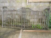 1934 vintage wrought iron double gates