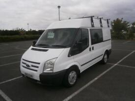 2013 FORD TRANSIT 2.2TDCi 100PS 280 SWB DOUBLE CAB 6 SEATER CREW VAN SIDE WINDOW