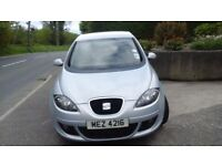 2007 SEAT TOLEDO 1.9 Diesel MOT to March 18 FSH Auto Lights & Wipers/Towbar 1 owner from new