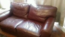 Leather sofa hardly used