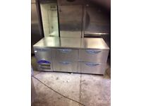 COMMERCIAL WORKTOP BENCH FRIDGE FLAT PREP PIZZA FRIDGE TAKEAWAY SHOP CAFE FRIDGE FOR SHOP RESTAURANT