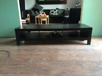 Black tv entertainment stand