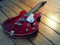 Epiphone Casino Coupe - Electric Guitar (Cherry Red) with Hard Case