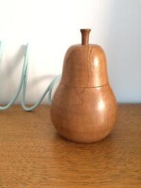 Wooden pear pot