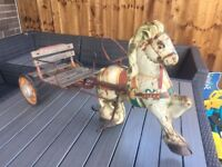 Vintage mobo horse and carriage pedal car 1940s