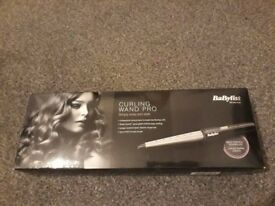 Babyliss Curling Wand Pro (Never used, still in original packaging)