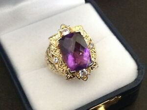 Generations 1912 Colour shift AMETHYST with Sapphires SIZE 6
