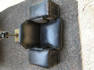home made rear seat for an ATV