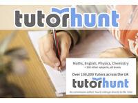 Tutor Hunt Cobham - UK's Largest Tuition Site- Maths,English,Science,Physics,Chemistry,Biology