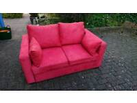 Red Two seater sofa bed