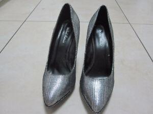 Silver Stilettos - New - Size 8