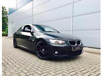 2009 09 reg BMW 320 M Sport Coupe Black + Auto + Nice spec