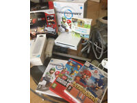 Nintendo Wii White Console With Games And Accessories Bundle
