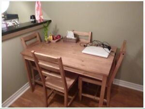 Ikea Jokkmokk Dining Table and (4) Chairs