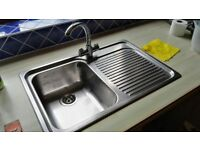Blanco sink & taps stainless steel preowned