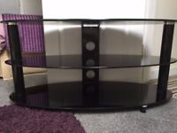 Black heavy TV stand
