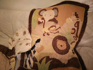 Bundle Set of Baby Cocoa lambs and ivy baby crib bedding