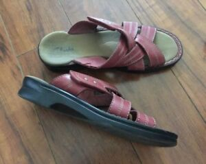Two pairs of Clarks leather sandals - $5 each