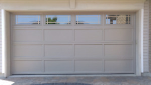 Canadian made steel insulated garage doors from 575 installed