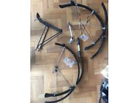 700c MUDGUARDS REAR RACK STAND FRAME PUMP TOURING COMMUTER DAILY BIKE PARTS hybrid