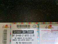 V Festival Tickets Saturday 19/8/17 Tickets x3