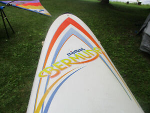 1980s Mistral Bermuda Board, Sail and Rigging