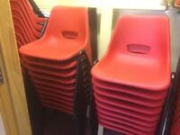 Red Plastic Stacking Chairs