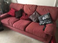 2x Settees -Suede type Material