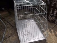 DOG / PUPPY CAGE /CRATE FOR HOME USE OR VEHICLE EX CON £20