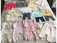 Baby girl clothes 0-3M Next, river island etc