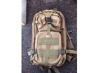 Medium size Army Style Rucksack, used twice. Selling because I have no need for it anymore.