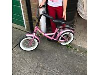 Pink bike for up to age 4-5