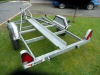 GALVANISED MOTORCYLE TRAILER - VERY GOOD CONDITION WITH LIGHTS ETC